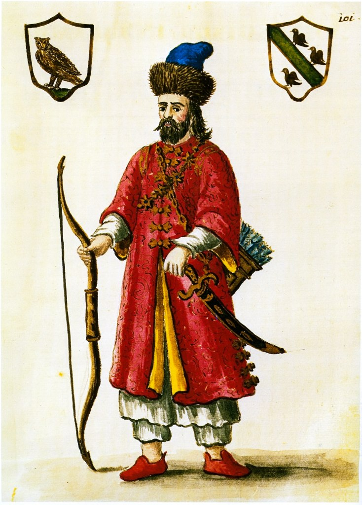 Marco Polo (1254-1324), as imagined by an unknown artist, depicting him dressed in the Mongolian Tatar style of the 13th Century.