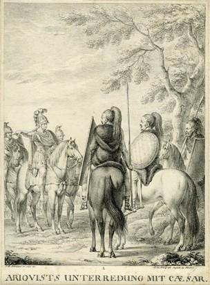 Julius Caesar Meeting with Ariovistus, Romans versus Germans
