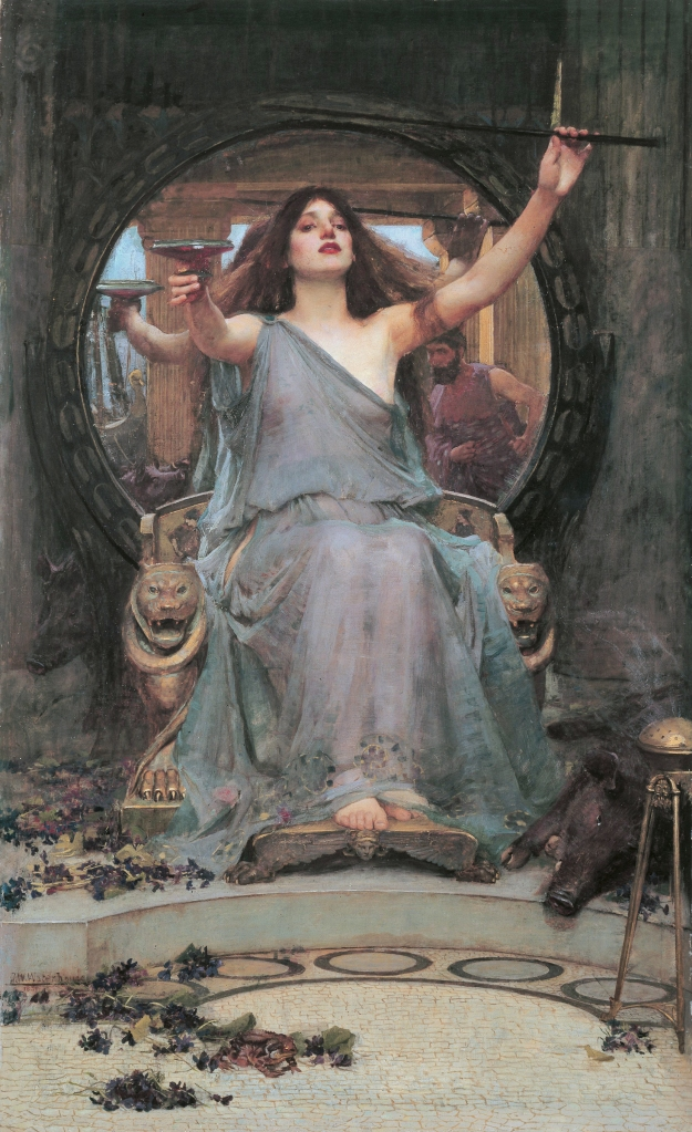 Circe Offering the Cup to Odysseus, by John William Waterhouse, 1910