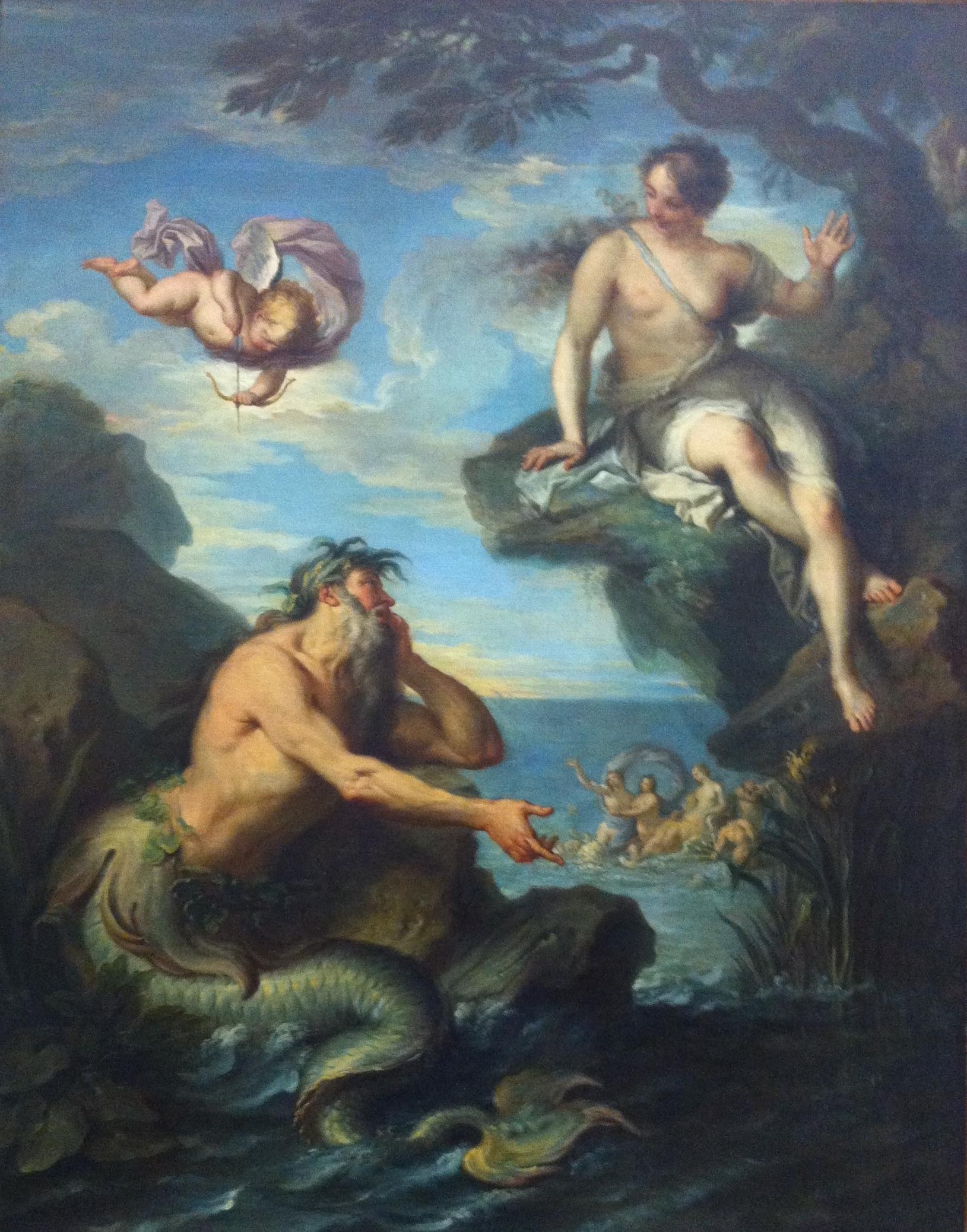 """Glaucus and Scylla """"Glaucus et Scylla"""" de Jacques Dumont dit Le Romain. Huile sur toile vers 1720~1780"""