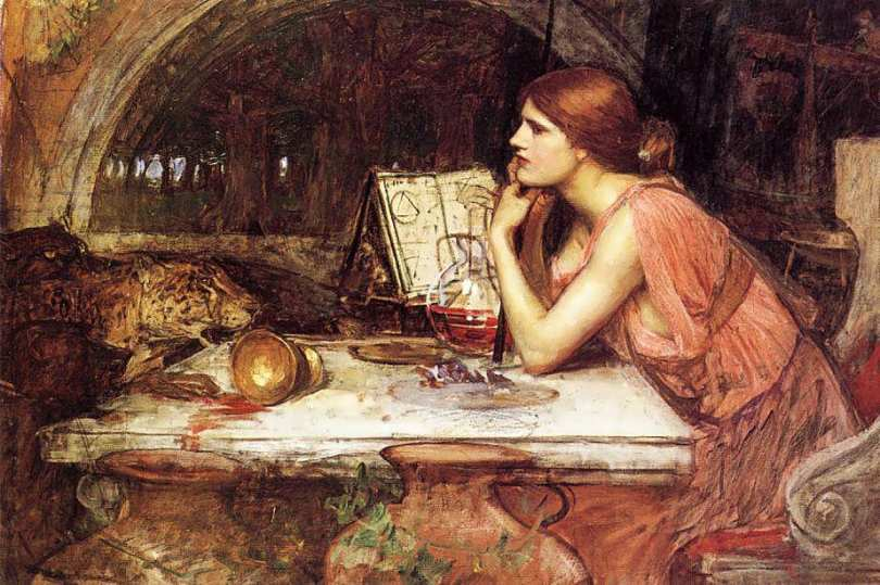Circe. John William Waterhouse: The Sorceress