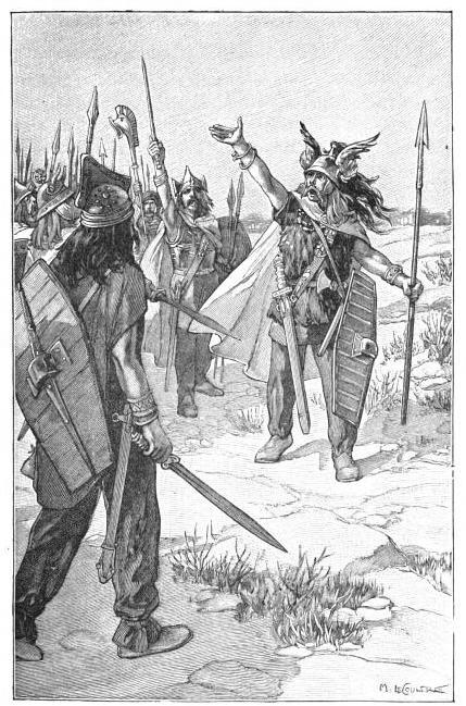 Vercingetorix rallying his men - Ernest Lavisse [Public domain]