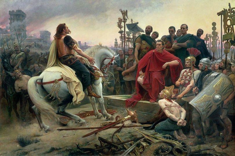 Vercingetorix Surrendering to Julius Caesar After the Siege of Alesia