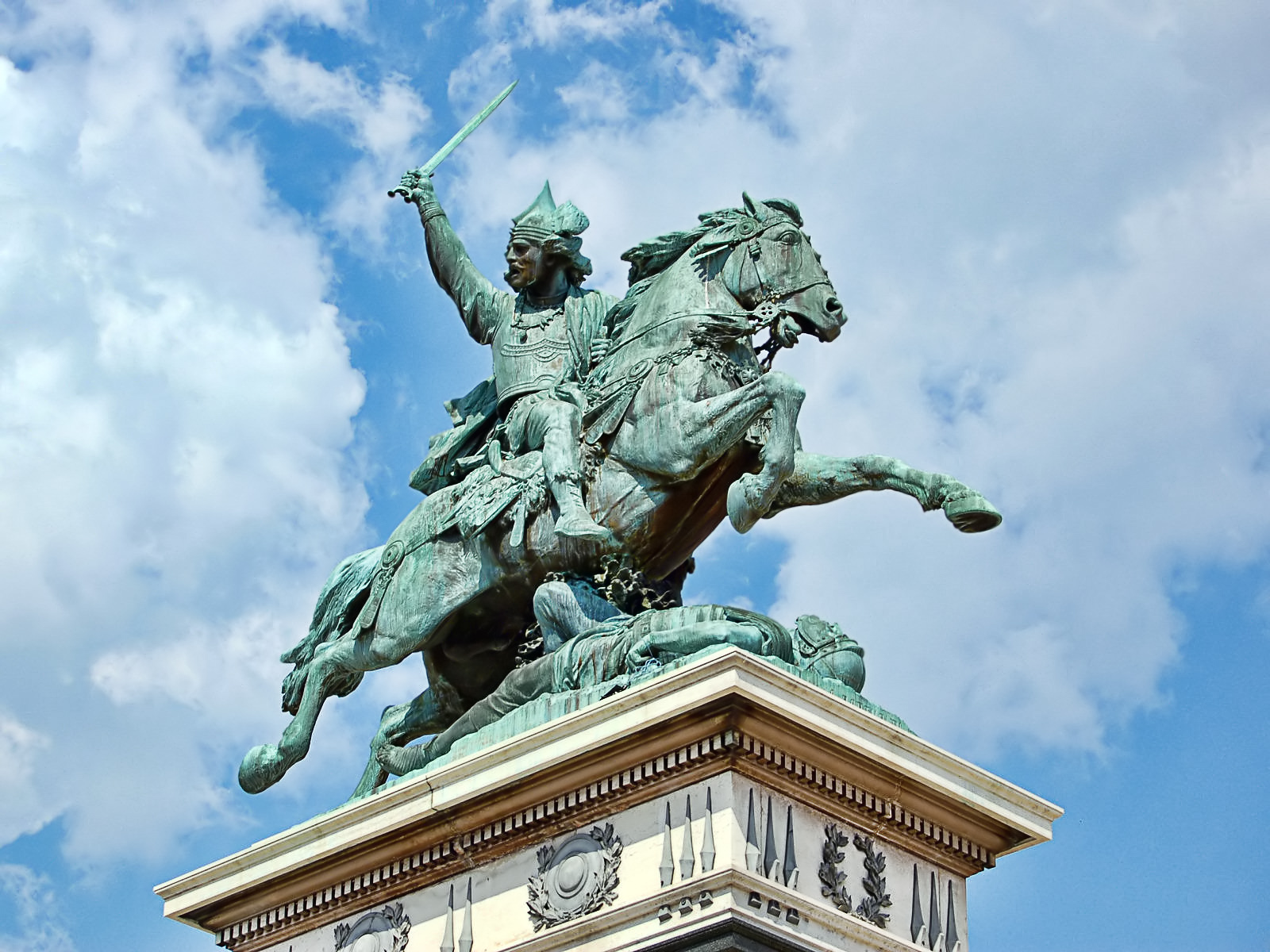Statue of Vercingetorix in Clermont-Ferrand, France