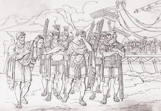 Caesar Receiving the Head of Pompei in Alexandria, Egypt