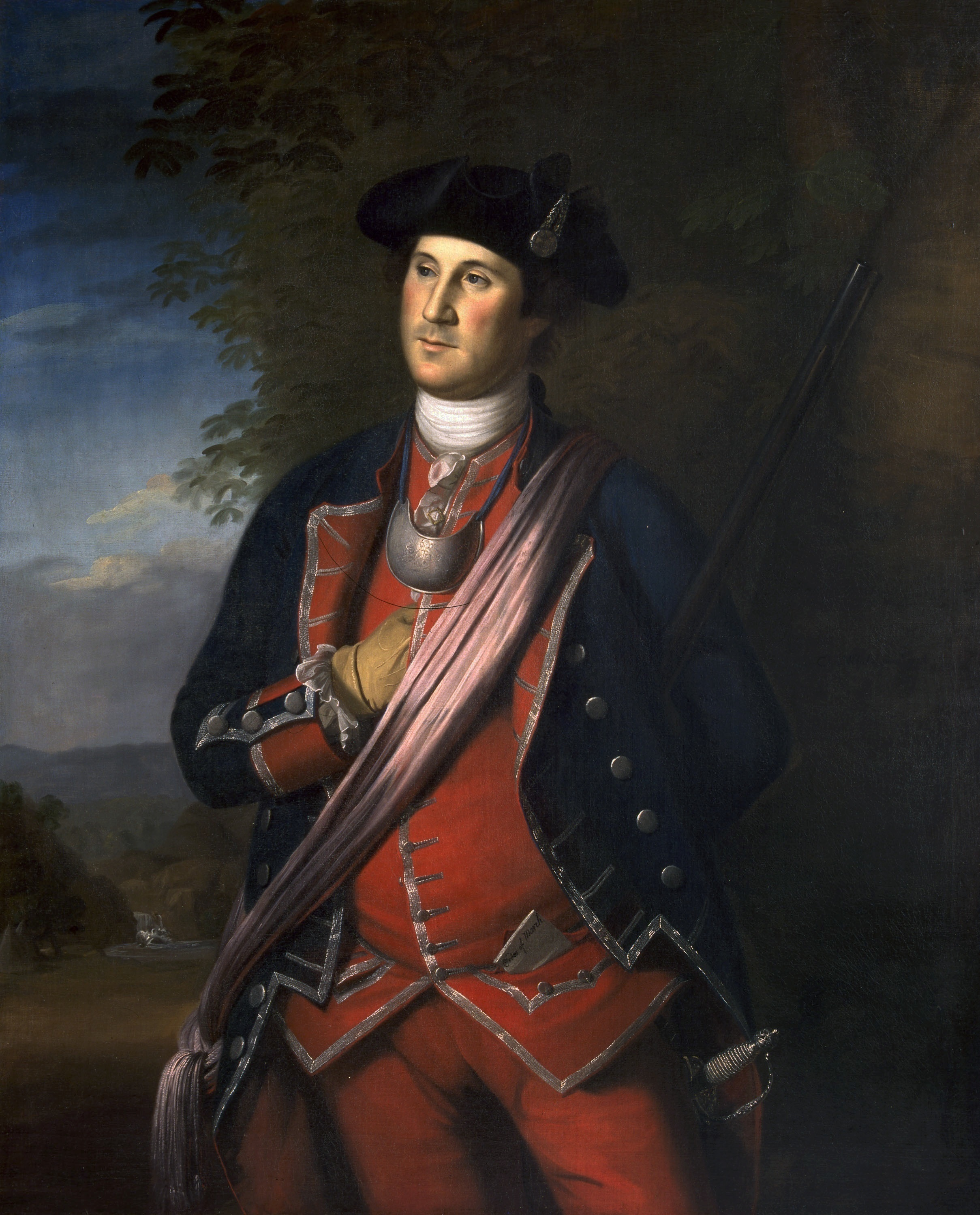 Young George Washington,  Colonial  Officer