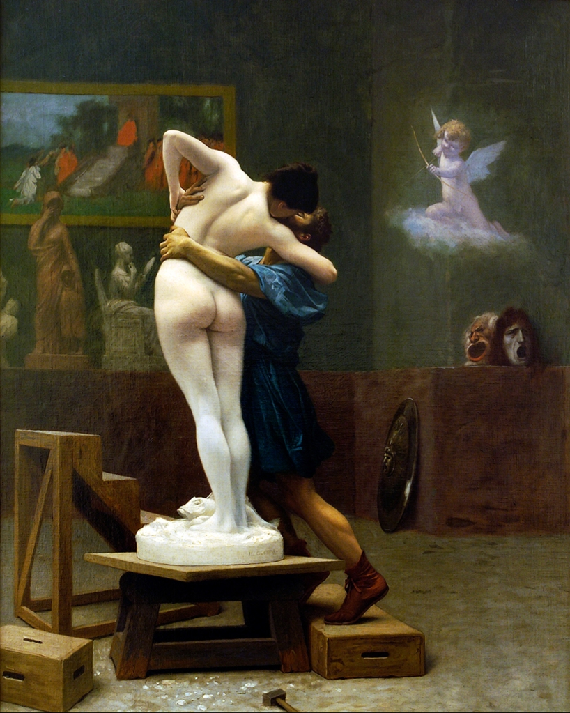 Pygmalion and Galatea By Jean-Léon Gérôme - Unknown source, Public Domain, https://commons.wikimedia.org/w/index.php?curid=296025