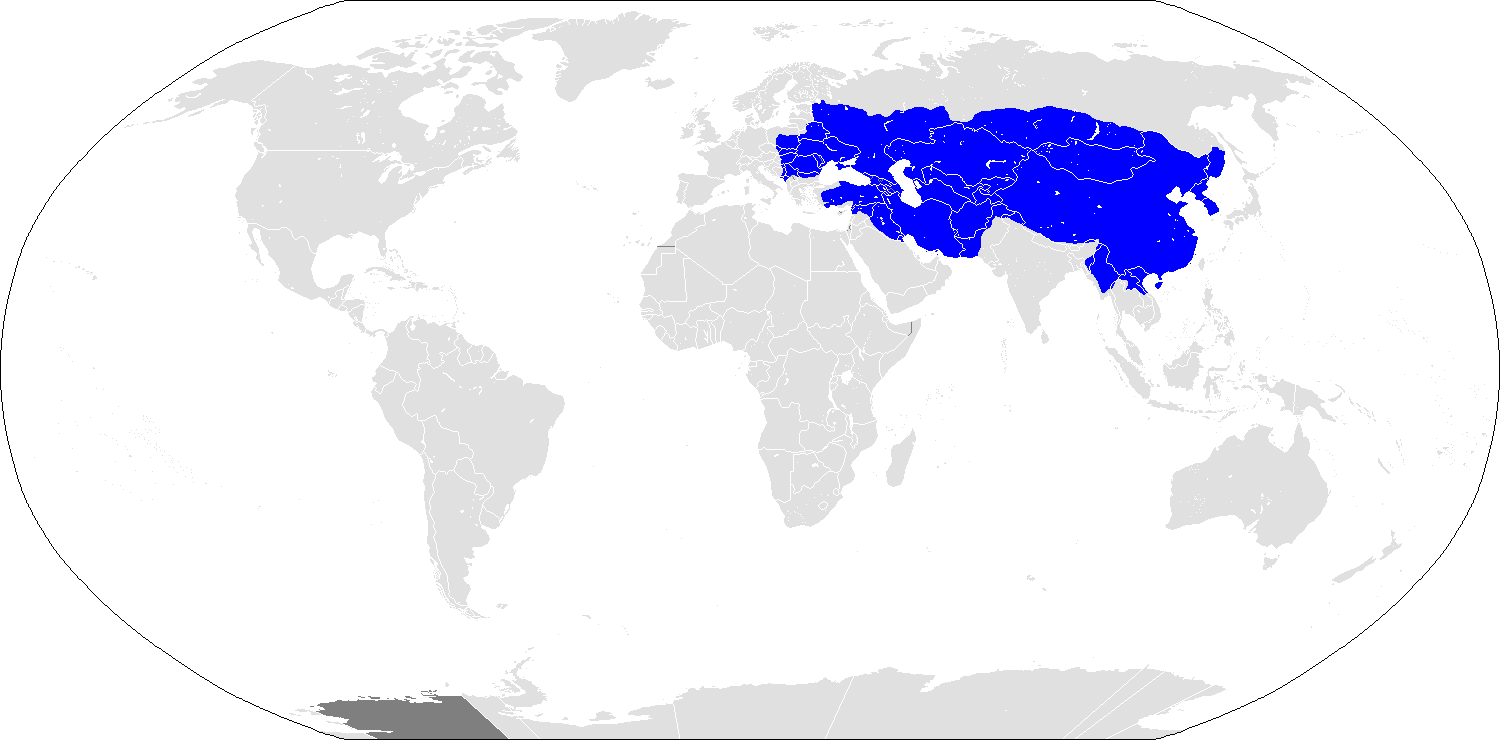 Map of the Mongol Empire at its Greatest Extent