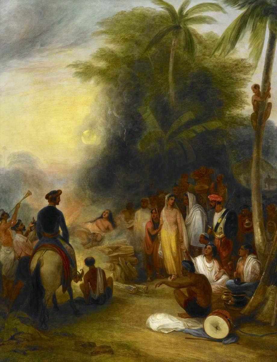 Suttee (or Sati) by James Atkinson, 1831