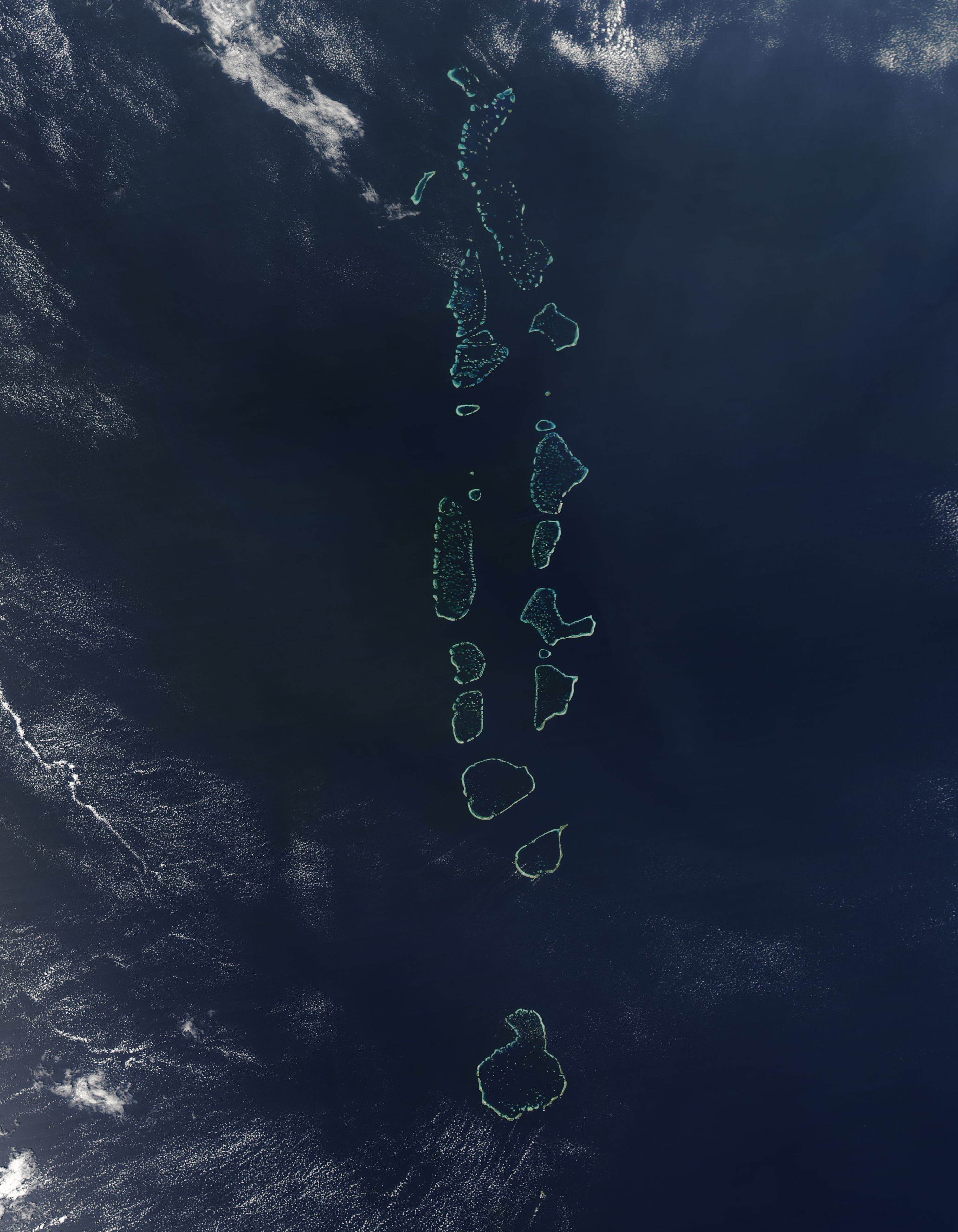 The Maldives, satellite