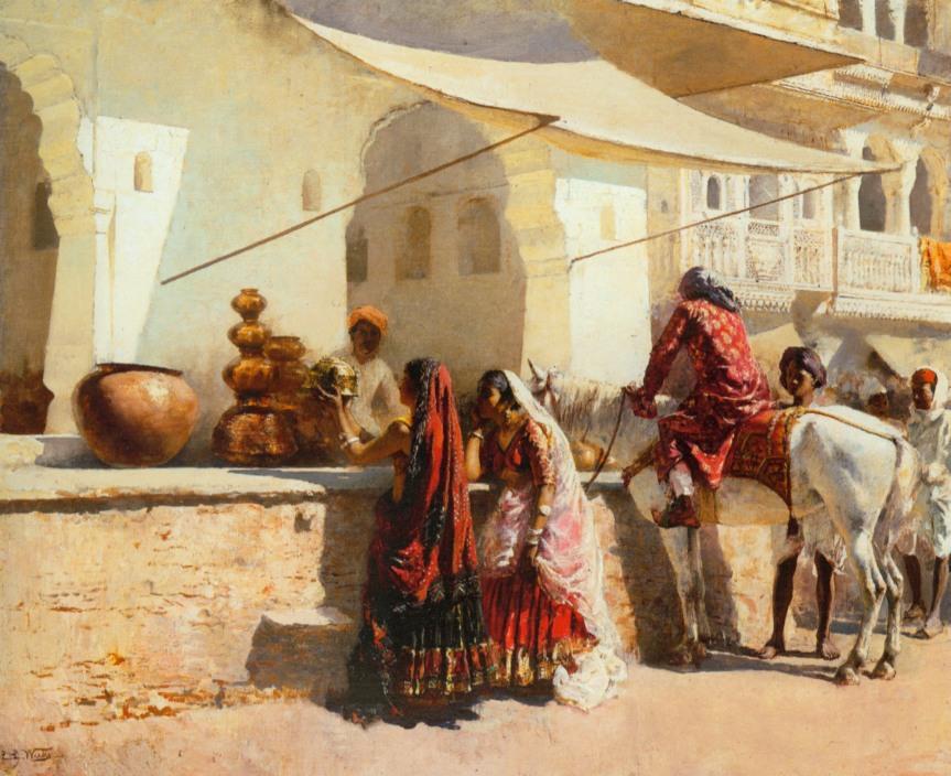 A Street Market Scene in India By Edwin Lord Weeks - Art Renewal Center, Public Domain