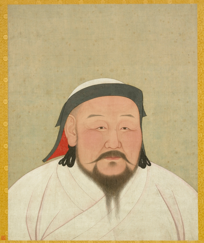 Kublai Khan, Portrait on Silk, 1294 CE, by Anige (a Nepalese Artist and Astronomer)