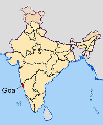 Goa, India CC BY-SA 3.0, https://commons.wikimedia.org/w/index.php?curid=115599